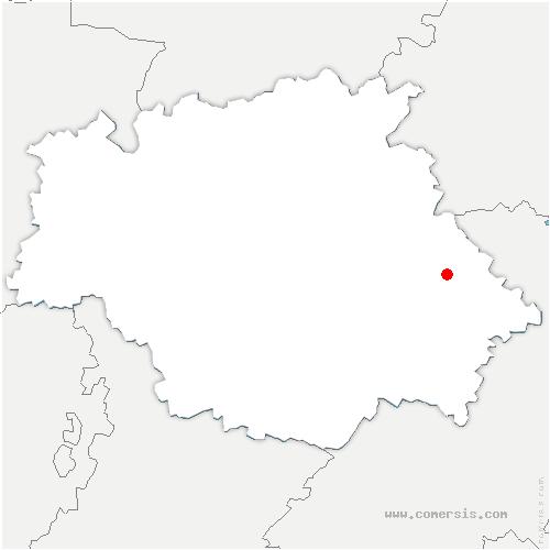 carte de localisation de Saint-Germier