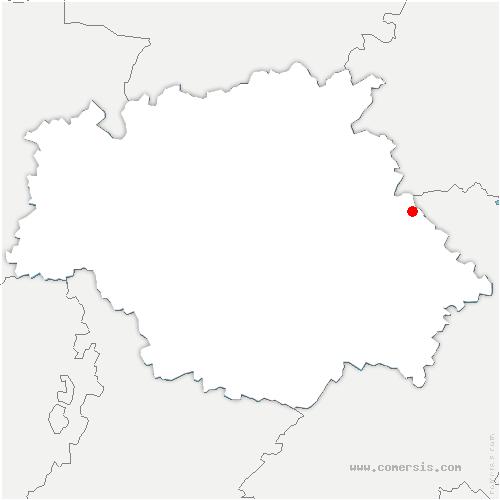 carte de localisation de Sainte-Anne