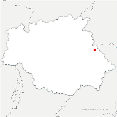 carte de localisation de Sarrant