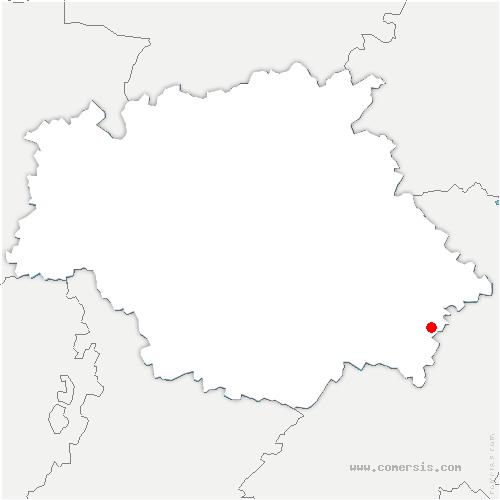 carte de localisation de Savignac-Mona