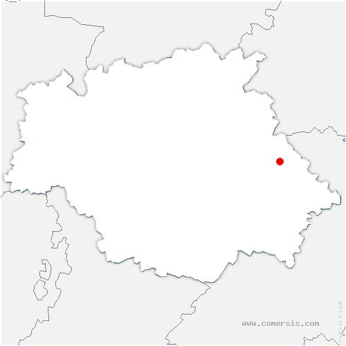 carte de localisation de Sirac