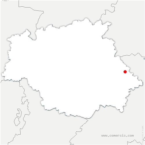 carte de localisation de Thoux