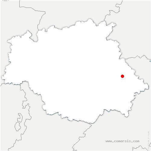 carte de localisation de Touget