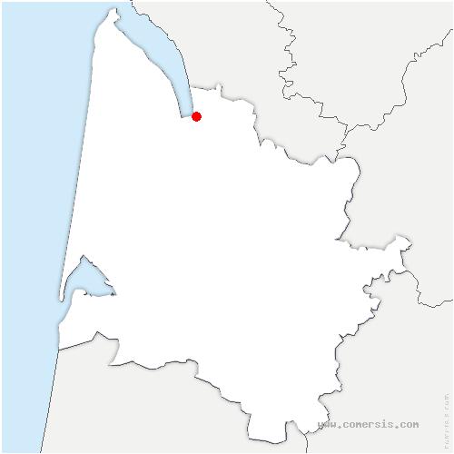 carte de localisation de Anglade