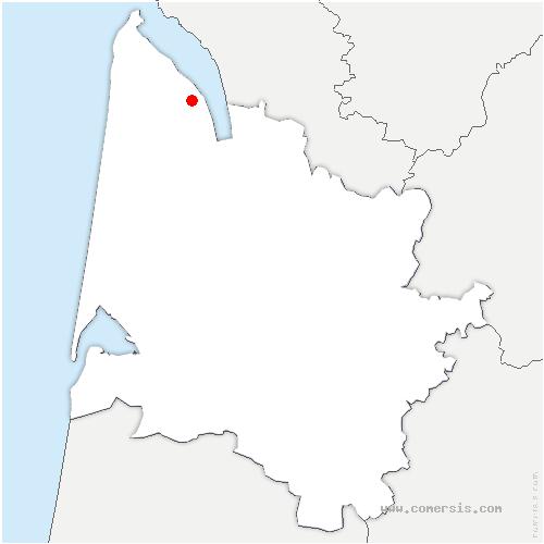 carte de localisation de Blaignan-Prignac