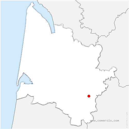 carte de localisation de Castets et Castillon