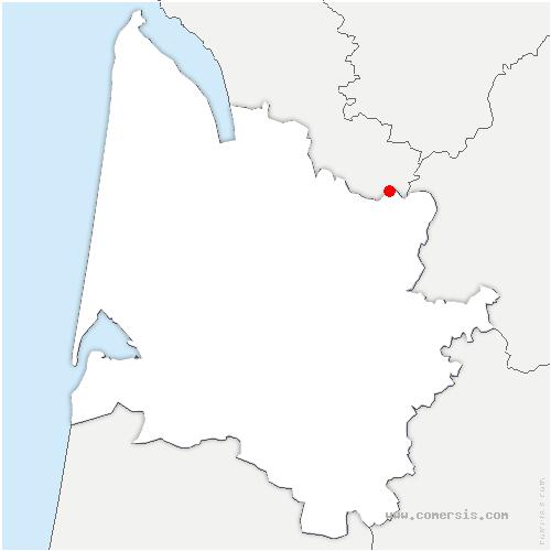 carte de localisation de Chamadelle