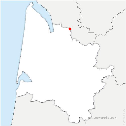 carte de localisation de Donnezac