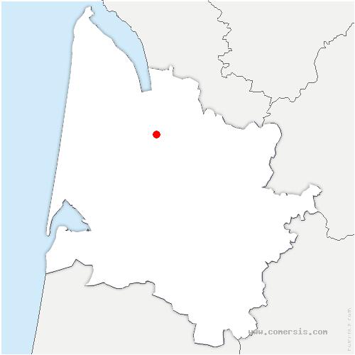 carte de localisation de Margaux-Cantenac