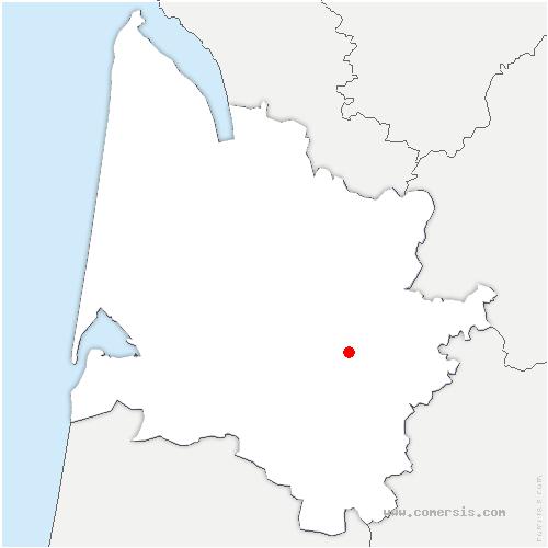 carte de localisation de Porte-de-Benauge
