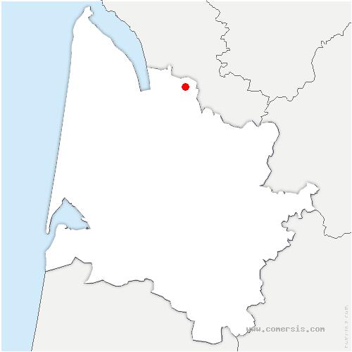 carte de localisation de Reignac