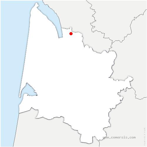 carte de localisation de Saint-Aubin-de-Blaye