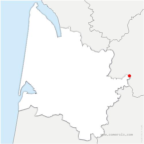 carte de localisation de Saint-Avit-Saint-Nazaire