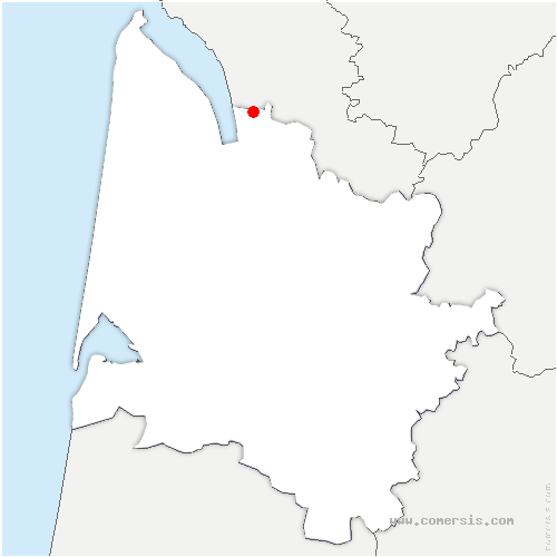 carte de localisation de Saint-Ciers-sur-Gironde