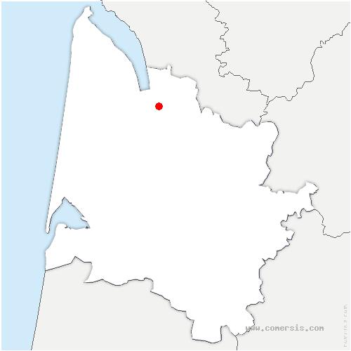 carte de localisation de Saint-Seurin-de-Cursac