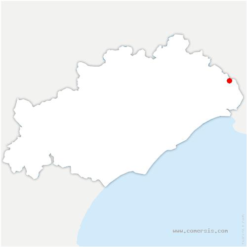 carte de localisation de Entre-Vignes