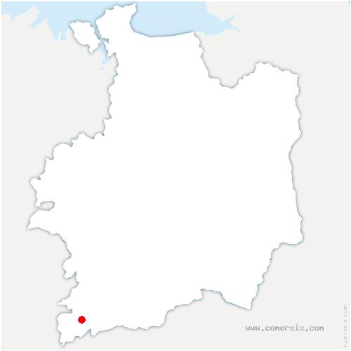 carte de localisation de Bains-sur-Oust