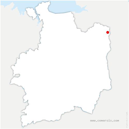 carte de localisation de Bazouge-du-Désert