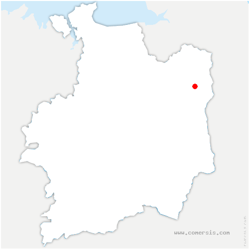 carte de localisation de Beaucé