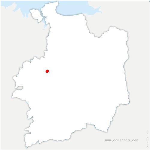 carte de localisation de Bédée
