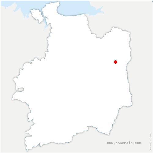 carte de localisation de Billé
