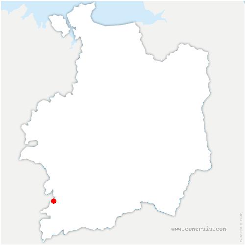 carte de localisation de Bruc-sur-Aff