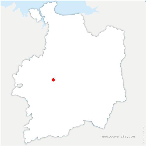 carte de localisation de Chapelle-Thouarault