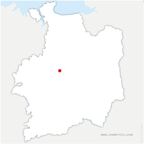 carte de localisation de Chapelle-des-Fougeretz