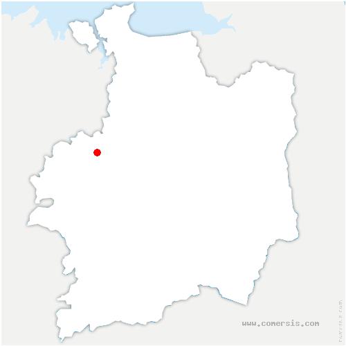 carte de localisation de Chapelle-du-Lou-du-Lac