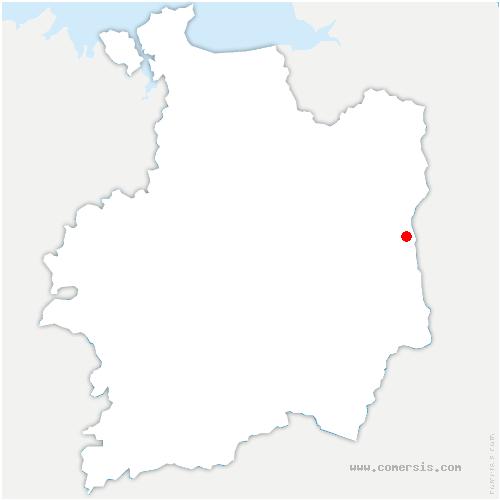 carte de localisation de Châtillon-en-Vendelais