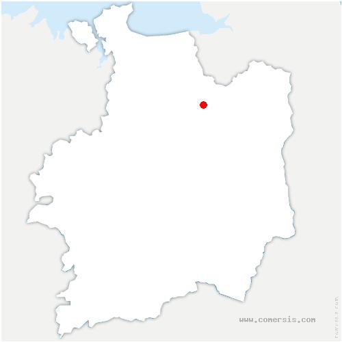 carte de localisation de Chauvigné