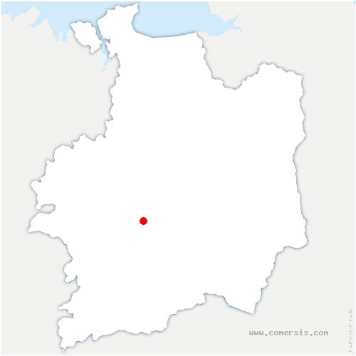 carte de localisation de Chavagne