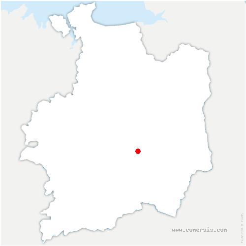 carte de localisation de Domloup
