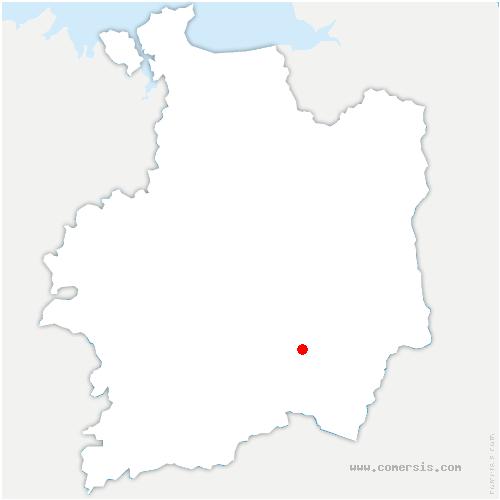 carte de localisation de Essé