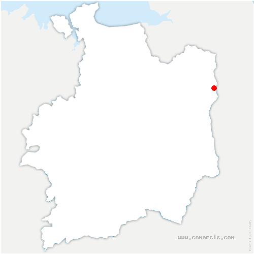 carte de localisation de Fleurigné