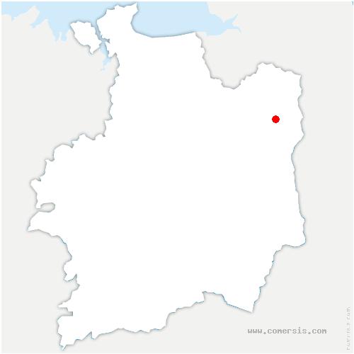 carte de localisation de Fougères