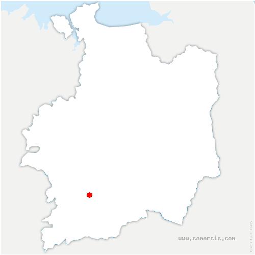 carte de localisation de Guipry