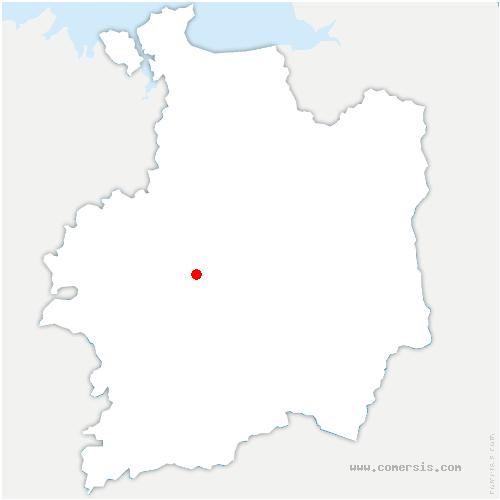 carte de localisation de Hermitage