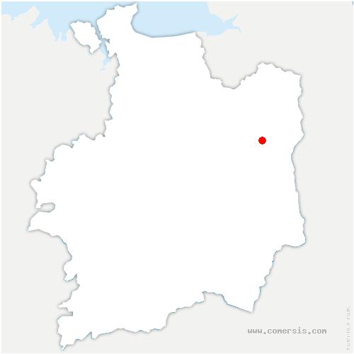 carte de localisation de Javené