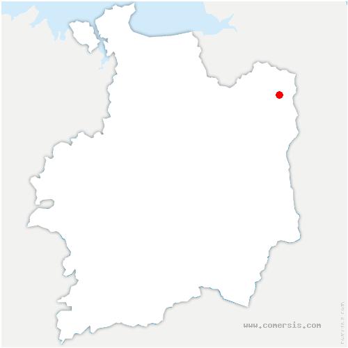 carte de localisation de Landéan