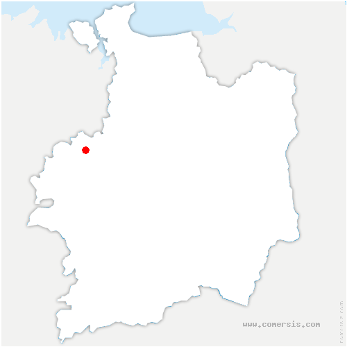 carte de localisation de Landujan