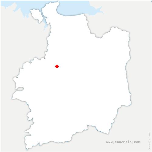 carte de localisation de Langouet