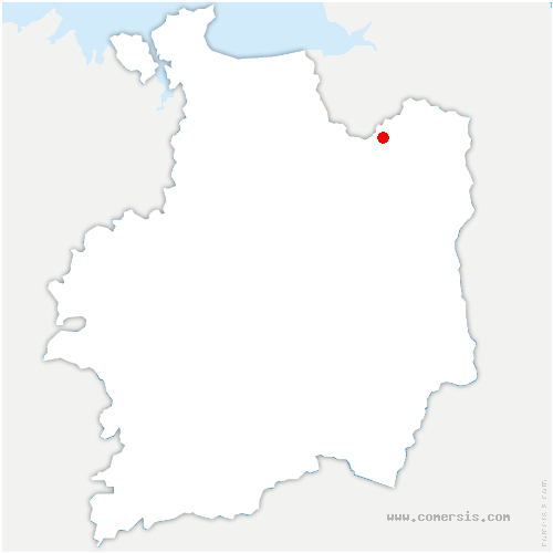 carte de localisation de Les Portes du Coglais