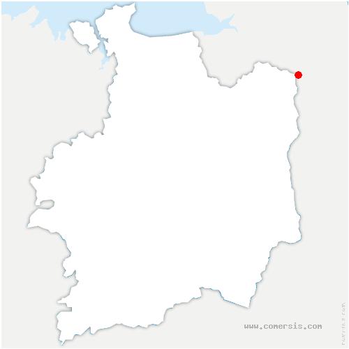 carte de localisation de Louvigné-du-Désert
