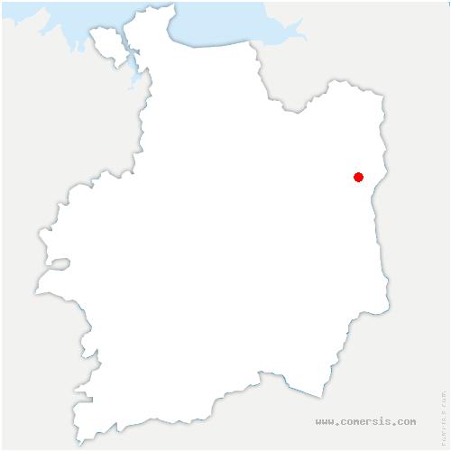 carte de localisation de Luitré-Dompierre
