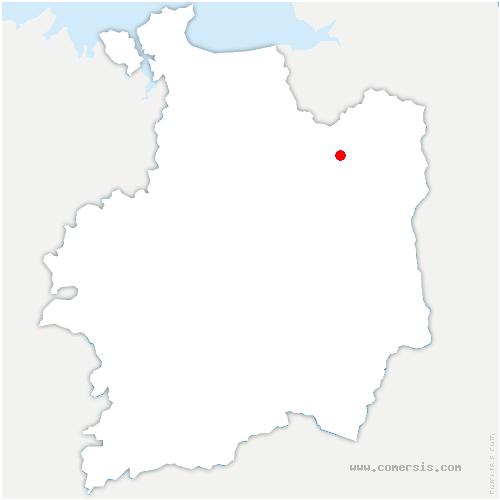 carte de localisation de Maen-Roch