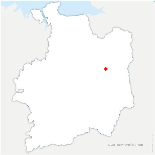 carte de localisation de Mecé