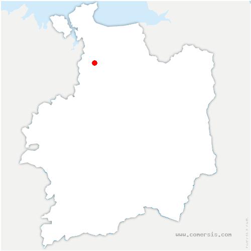 carte de localisation de Mesnil-Roc'h