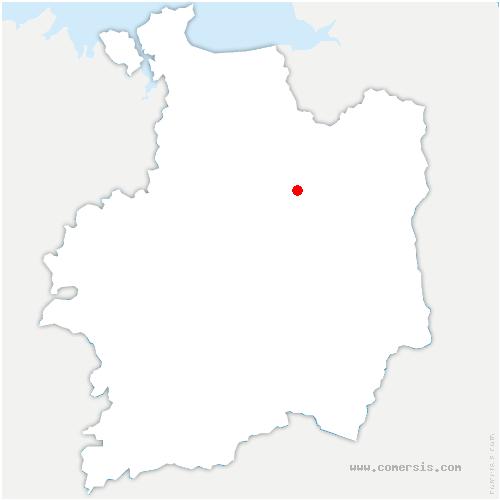 carte de localisation de Mézières-sur-Couesnon