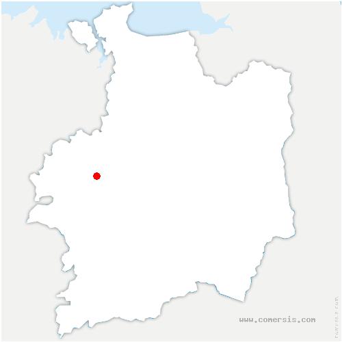 carte de localisation de Montfort-sur-Meu